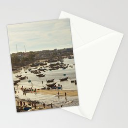 Fishing village Stationery Cards