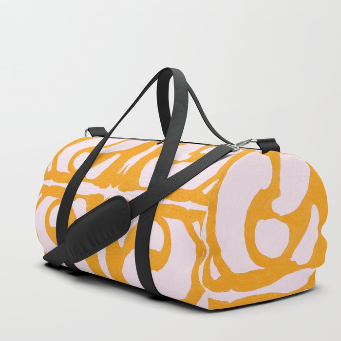 Abstract in Yellow and Cream Duffle Bag