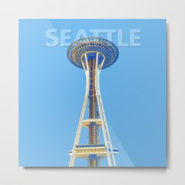 The Seattle Space Needle Metal Print