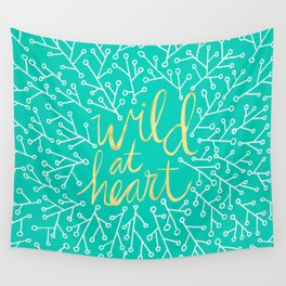 Wild at Heart – Turquoise Wall Tapestry