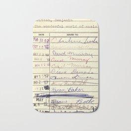Library Card 780 The Wonderful World of Music Bath Mat