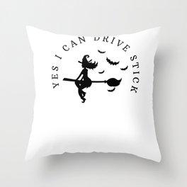 Halloween witch broom stick Creepy Sexy Costume Throw Pillow