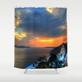 Sunset v Shower Curtain