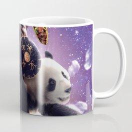 Lazer Warrior Space Cat Riding Panda With Taco Coffee Mug