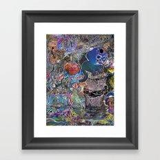mooncat Framed Art Print