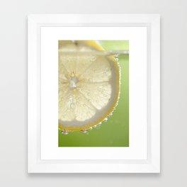 Bubbly Lemon - Lime Green Framed Art Print