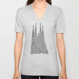 Sagrada Familia Unisex V-Neck
