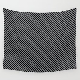 Sharkskin and Black Stripe Wall Tapestry