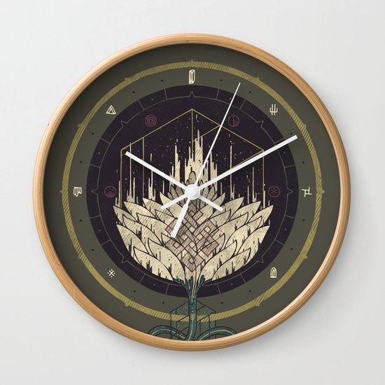 Fading Dahlia Wall Clock
