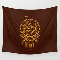 steampunk Wall Tapestries featuring Steampunk 1852 by WinterArtwork