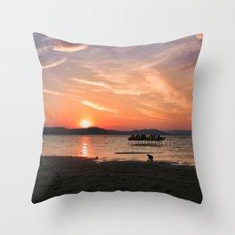 Sunset Silhouette Throw Pillow