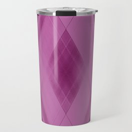 Wicker triangular strokes of intersecting sharp lines with strawberry triangles and stripes Travel Mug