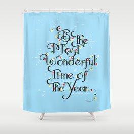 Christmas Season Shower Curtain