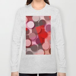 dots & squares red Long Sleeve T-shirt