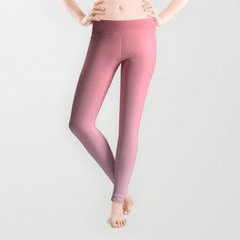 Pastel Ombre Rose Color Gradient Millennial Pink Lilac Cute Pattern Leggings