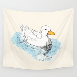White Duck Wall Tapestry