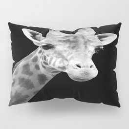 B&W Giraffe Portrait Pillow Sham
