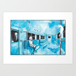 Underwater Subway Art Print