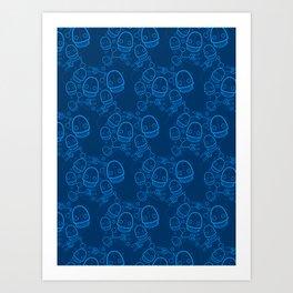 Spaztic Bots Art Print