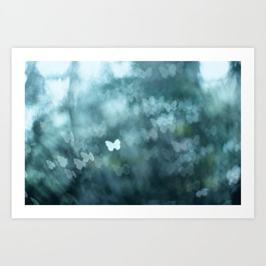Flutter By Me Art Print