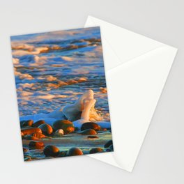 Blue and Gold Waves Background Pattern Cutest Stationery Cards