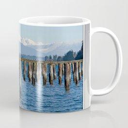 MOUNT BAKER KOMA KULSHAN AND OLD PILINGS  Coffee Mug