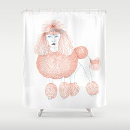 Weird poodles - Ginger dye Shower Curtain