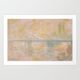 "Claude Monet ""Charing Cross Bridge"" (II) Art Print"