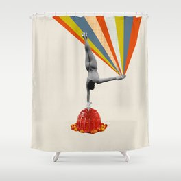 On one hand Shower Curtain