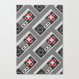 Retro Video Game Pattern Canvas Print
