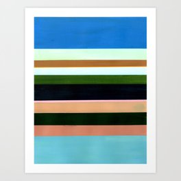 Stripes - Inspired by The Birth of Venus by Sandro Botticelli Art Print