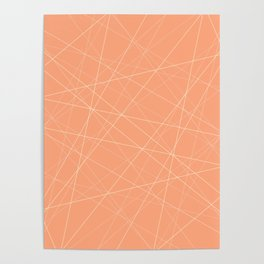 Peachy Lines Abstract Poster