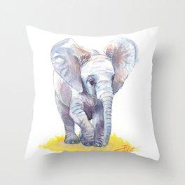 Ivy's Baby Elephant Throw Pillow