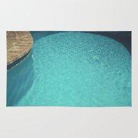 aqua Area & Throw Rugs featuring Aqua by Cassia Beck