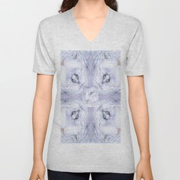 White Tiger Pattern Unisex V-Neck