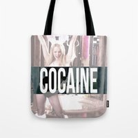 cocaine Tote Bags featuring Cocaine by Randall Hansen