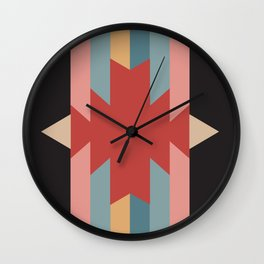 Red Star - Style Me Stripes Wall Clock