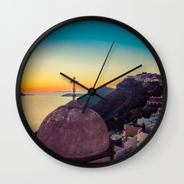 Adorable Santorini Wall Clock
