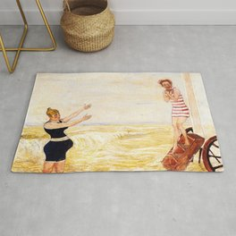 Summer Beach Humor: The Call of the Siren by James Ensor Rug