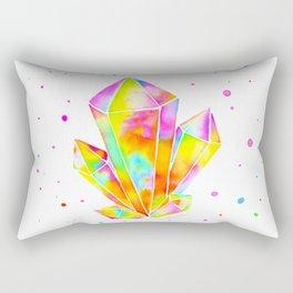 Rainbow Crystal Cluster Rectangular Pillow