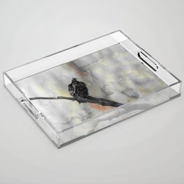 Perched Vulture Acrylic Tray