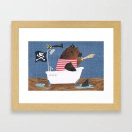 The Bath Tug Framed Art Print