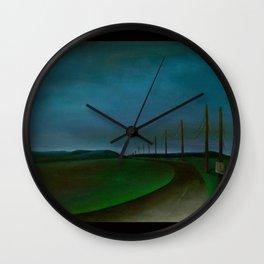 Lost On A Dark Highway Wall Clock
