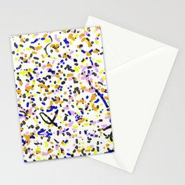 Watercolour Splatter Pattern - Abstract, contemporary art Stationery Cards