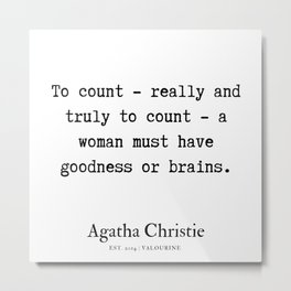 87   | Agatha Christie Quotes | 190821 Metal Print