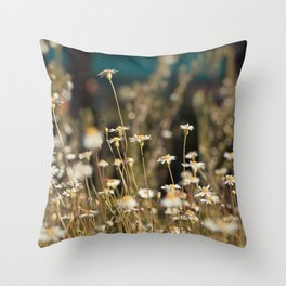 Field of Daisies - Floral Photography #Society6 Throw Pillow