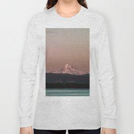 Pastel Peak - Mt. Hood over the Columbia Long Sleeve T-shirt