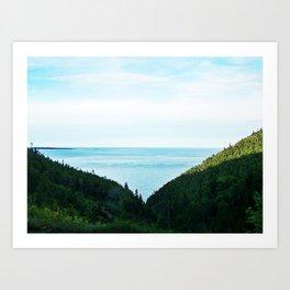 Seaside Mountain Crevasse Art Print