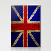 british flag Stationery Cards featuring British Flag by Jason Michael