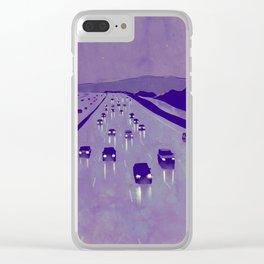 Nightscape 01 Clear iPhone Case